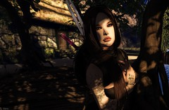 I am Cait (Vix Stoanes) Tags: cait captain gor gorean catwa glam affair shadows tattoo polearm sword weapons warrior swamp slaver second life