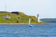 NS-02490 - George's Island Lighthouse (archer10 (Dennis) 80M Views) Tags: halifax sony a6300 ilce6300 18200mm 1650mm mirrorless free freepicture archer10 dennis jarvis dennisgjarvis dennisjarvis iamcanadian novascotia canada waterfront harbour boat ship