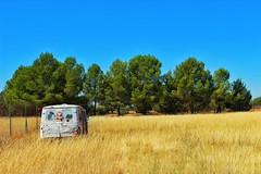 ANTIGEDAD (ErickLlanosR) Tags: albacete vintage trees caravana