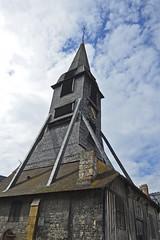 2016.06.28.054 HONFLEUR - Eglise Sainte-Catherine, le clocher (alainmichot93 (Bonjour  tous)) Tags: 2016 france normandie seinemaritime honfleur architecture rue faade toit fentre colombages clocher