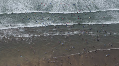 Playing in the surf at Bude in Cornwall - aerial image (John D F) Tags: surf sea bude cornwall aerial aerialimage aerialphotograph aerialimagesuk aerialview