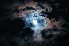 Cosmic Moon (JasonTurrisiPhotography.com) Tags: moon sky night clouds cosmic vsco adobe lightroom photoshop colors tamron 200 nik color efex pro