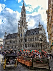 Brussels (victorhjzz) Tags: carriage square arquitecture classic belgium europe brussels lagrandplace