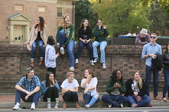 Best parade seats in the house (William & Mary Photos) Tags: select homecoming parade wm wmhc williamandmary williammary collegeofwilliamandmary collegeofwilliammary greenandgold alumni fall