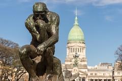 El pensador (Never House) Tags: el pensador argentina rodin bronce estatua buenosaires raulwong 2016 viaje travel trip