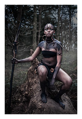 Tribal (esteaeneka) Tags: girl dark tribal warrior tribe