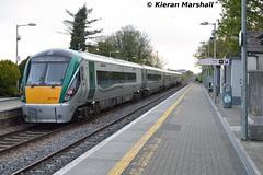 22039 departs Portlaoise, 8/5/15 (hurricanemk1c) Tags: irish train rail railway trains railways irishrail rok rotem portlaoise 22039 2015 icr iarnród 22000 éireann iarnródéireann premierclass 5pce 0625portlaoiseheuston