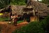 House. Near Mysore.  Karnataka.  India (Tito Dalmau) Tags: woman india house near karnataka mysore chldren