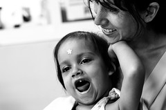 A mother's love, heals any type of cancer. (Eye's window photography) Tags: blackandwhite woman love blancoynegro girl fighter daughter mother cancer patient
