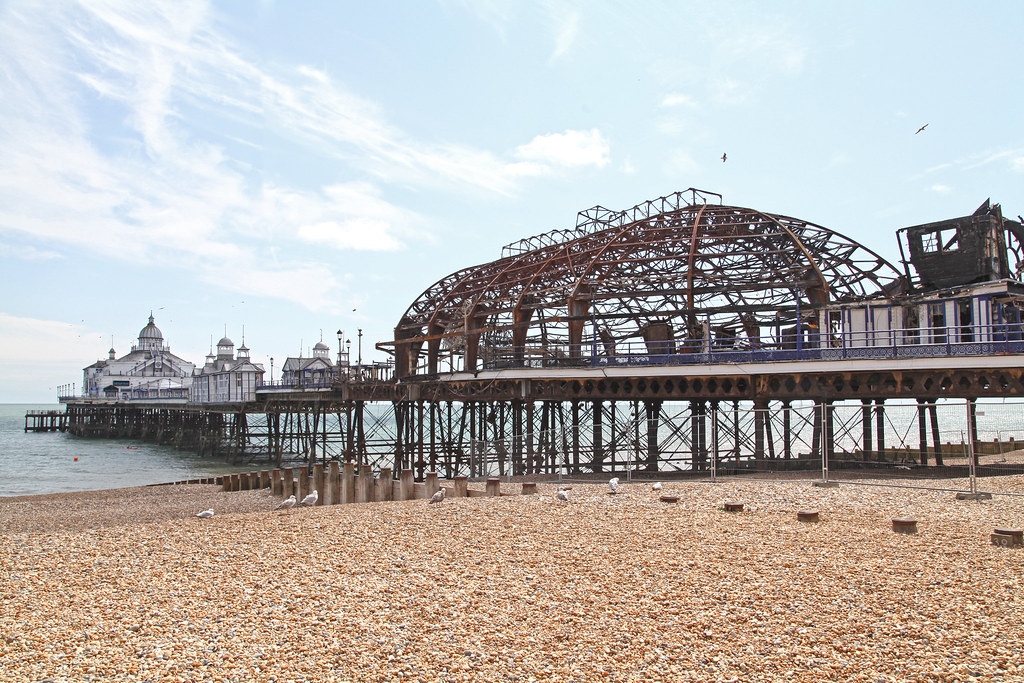 Eastern side of Eastbourne pier - after the fire (2)