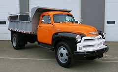 1954 Chevrolet 1700  Dump Truck (Custom_Cab) Tags: 1954 dump truck 1700 canada canadian advance design richmond bc british columbia works public 004 chevrolet chevy early gravel yard city
