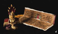 (pixelnature) Tags: nepal statue livre priere