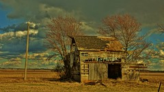 Old Barn and Dramatic Sky on the Midwest Plains (chumlee10) Tags: old blue sky clouds barn outdoors dramatic oglecounty barnday