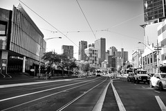 Melbourne VIC (ya_viema) Tags: city bw landscape blackwhite nikon angle wide perspective tram australia melbourne wideangle victoria tokina yarra cbd uga grandangle 1116 theplacetobe d7100