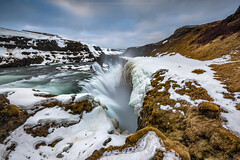 Gullfoss (CResende) Tags: longexposure travel winter snow color fall ice nature water beauty wonder landscape golden frozen waterfall iceland le gullfoss goldencircle travelphotography 1424 d810 cresende progreyusa