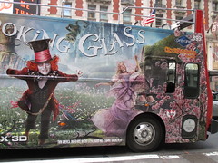 Alice Through the Looking Glass Bus Billboard 9142 (Brechtbug) Tags: street new york city nyc bus film glass cat movie tim looking cheshire near alice broadway lewis disney double billboard johnny billboards carroll through mad depp avenue wonderland 7th 42nd hatter burtons decker in 2016 05192016