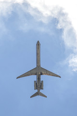 Skyward (MightySnail) Tags: sky metal clouds shiny underside americanairlines takeoff earthcity md80 earthcityleveetrail