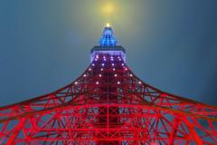 P5030400 (Zengame) Tags: tower japan architecture night pen tokyo illumination landmark olympus illuminated jp  tokyotower  zuiko   penf     mzuiko 12mmf20 mzuikodigitaled12mmf20 livecomposite