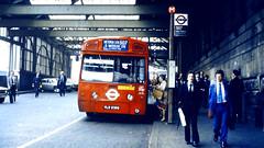 Slide 057-72 (Steve Guess) Tags: uk red england bus london station mba transport waterloo merlin gb arrow lambeth aec route507