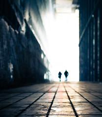 Walking on Walls (marcin baran) Tags: street city people urban blur color silhouette wall photo blurry focus fuji pair awesome streetphotography poland manipulation fujifilm editing walls edit zabrze gliwice x100 peopole x100t