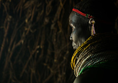 Nyangatom tribe woman with piles of beads, Omo valley, Kangate, Ethiopia (Eric Lafforgue) Tags: africa people color horizontal outdoors necklace women day adult african decoration jewelry tribal headshot indoors pile blackpeople bead omovalley earrings tradition ethiopia tribe ethnic cultural oneperson jewel developingcountry ethnicity hornofafrica ethiopian eastafrica abyssinia traditionalclothing realpeople blackskin beadednecklace bume onewomanonly 1people indigenousculture africanculture ethnicgroup bodyadornment nyangatom kangate blackethnicity ethiopianethnicity kangatan ngakaaly ethio161694