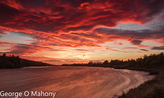 Fiddown Sunset (George O Mahony) Tags: suir waterford ireland river colour color golden hour