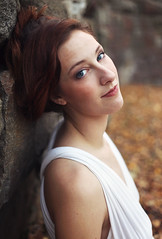 Kelly (reecord2) Tags: portrait nature canon 50mm autumn leaves redhead redhair blueeyes richardsheehan 6d fullframe