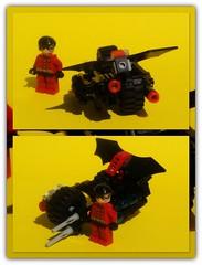 lego Batman (peter-ray) Tags: lego batman robin moc brick shi fii fantasy comics dc peter ray bat mobile wing byke yellow space ship sky figther logo mini figure minifigure