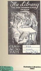 1963: Bookplate from Park Grammar School Library and A.G. Williams of Wood Street, Swindon (Local Studies, Swindon Central Library) Tags: 1963 1960s park school grammar bookplate book parkgrammar grammarschool swindon wiltshire ephemera williams books bookshop agwilliams woodstreet
