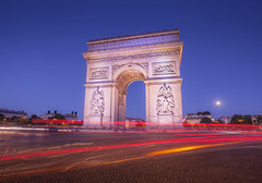 The Arc de Triomphe. (alex west1) Tags: arcdetriomphe avenuedeschampselysees parisfrance france internationallandmark blurredmotion monument architecture famousplace frenchculture nopeople capitalcities horizontal colourimage triumphalarch traditionalculture vacations holiday