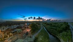 Sunset (aludatan) Tags: fisheye iamnikon sunset sun cloud cloudformation clouds blue skyline cityscape street colorful outdoor random randomshoot amateur sigmalenses malaysia penang