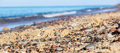 (klgfinn) Tags: autumn balticsea bokeh landscape sand sea shore sky skyline stone water wave