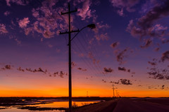 Derby Nightlife (jenni 101) Tags: power lines derbywa westernaustralia kimberleys colourful reflections