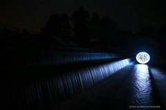 Surfing The Void (john&mairi) Tags: orb lightpainting weir longexposure le photography night nighttime nocturnal stronachlachar loch katrine trossachs glasgow publicwatersupply aqueduct led fairylights cascade water reflection