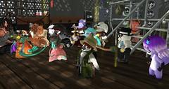 "Avilion Harvest Arts Festival - ""Backstage Break"" (Osiris LeShelle) Tags: secondlife second life avilion harvest arts festival backstage break performance band stage music dancing tinies keeba tammas singing"