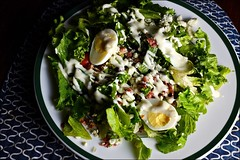 Cobb Salad (The Marmot) Tags: bacon bluecheese cheese egg flickr food foodfriday foodphotography lettuce salad x100s