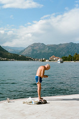 the old man and the sea (whimsical jane) Tags: film photography whimsical jane voigtlander bessa analog montenegro old man kotor bay sea fishing locals