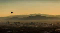 16.09.2016. The Strip. (eronan) Tags: lasvegas balloon sunrise morning haze mountains fromabove