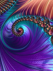 """Fractal - """"Metallic Shell Jewelry"""" pattern (Scorpiol13) Tags: light abstract motion art texture colorful pattern shine metallic fractal ipad repetitive frax iphoneography"""