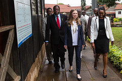 Chelsea Clinton visits the Outpatient Clinic of the Mbagathi District Hospital in Nairobi, Kenya. (clintonfoundation) Tags: diarrhea