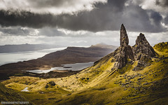 The Old Man Of Storr (RobGrahamPhotography) Tags: light mountain nature clouds canon landscape scotland view isleofskye angle britain hiking wide dramatic loch lightroom oldmanofstorr storr canon6d