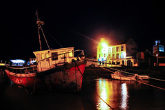 Youghal Dock at Night