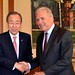 Dimitris AVRAMOPOULOS, Member of the EC in charge of Migration, Home Affairs and Citizenship, meets with BAN Ki-moon, Secretary-General of the United Nations