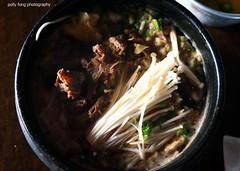 Bulgogi at Blue Bella (deeeelish) Tags: mushroom vegetables beef broth bulgogi enoki