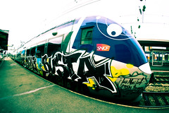 BUSTA (nARCOTO) Tags: train graffiti graff sncf graffitis