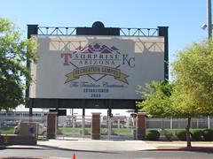Street Sign for Surprise Stadium -- Surprise, AZ, March 09, 2016 (baseballoogie) Tags: arizona canon baseball stadium az powershot surprise ballpark springtraining royals kansascityroyals cactusleague baseballpark surprisestadium 030916 sx30is canonpowershotssx30is baseball16
