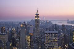 On Top of the Rock (Kieu Nga Vu) Tags: city nyc newyorkcity trip travel sun newyork night america buildings photography lights photo day empirestatebuilding topoftherock usaa
