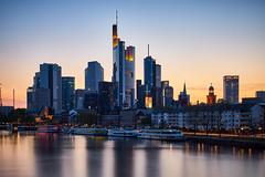 Frankfurt Skyline (krwlms) Tags: city urban skyline germany long exposure cityscape skyscrapers frankfurt sony main ii stadt a77 nd1000