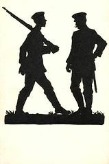 3s (DenjaChe) Tags: silhouette papercut scherenschnitt germansoldiers