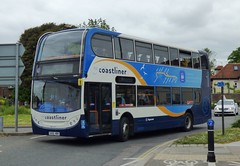Stagecoach South 15599 (GX10 HBH) Chichester 25/5/16 (jmupton2000) Tags: uk bus south 400 coastline alexander dennis 700 stagecoach scania enviro southdown coastliner gx10hbh